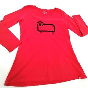Woolrich graphic tee sheep print Red Long sleeve L